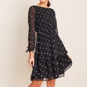 Ann Taylor Floral Embroidered Flare Dress